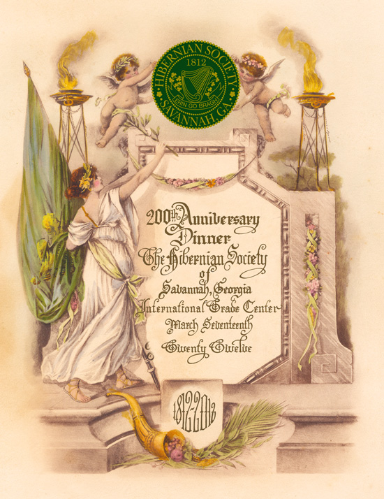 The Program Cover for the 200th Anniversary Dinner was based on the cover of the 100th Anniversary Dinner Program in 1912.
